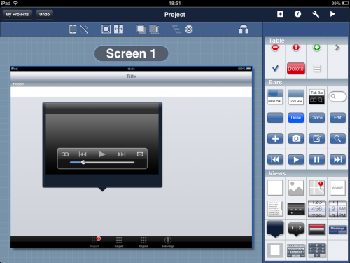 Blueprint : concevoir son app dans un iPad