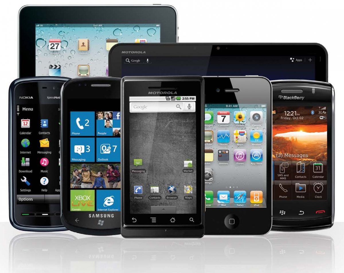 Exemple de terminaux mobiles : iPad, iPhone, Tablette Android...