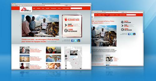 Refonte du site Médecins Sans Frontières