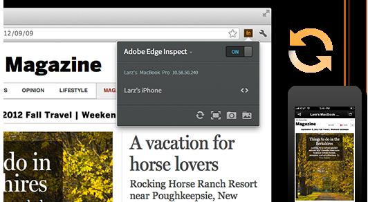 Tester un design responsive avec Adobe Edge Inspect