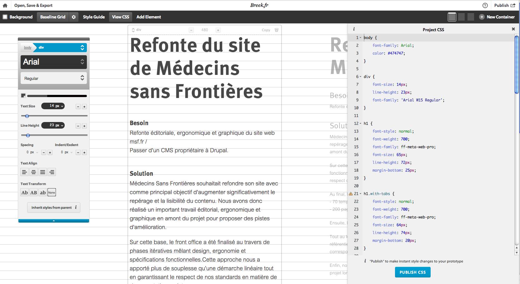 Tester ses web fonts avec Typecast