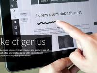 Adobe Proto, outil de création de wireframes sur tablette
