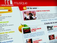 Refonte ergonomique et graphique de RFI musique : wireframes, design, charte graphique...