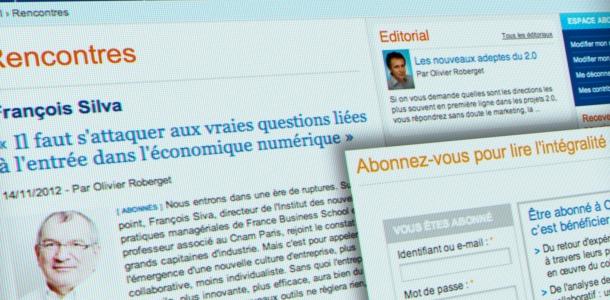 Magazine et communauté professionnelle avec abonnement en ligne