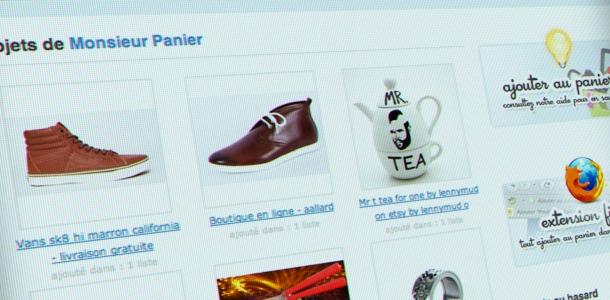 Gestionnaire de favoris spécialisé dans le shopping en ligne