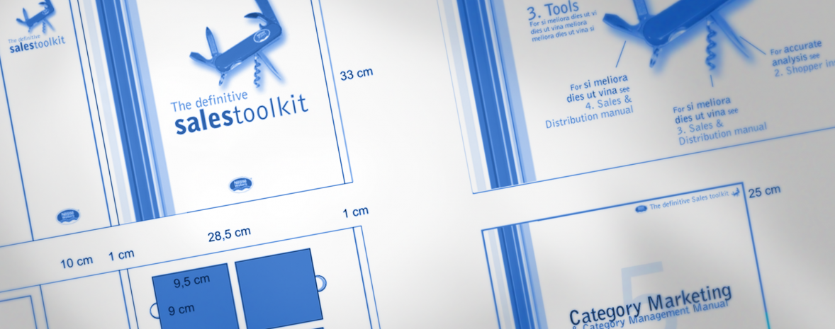 "Conception, design et production d'un ""Sales toolkit"" de référence"