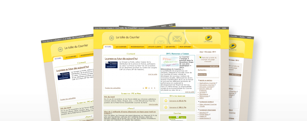 Plateforme Drupal La Poste : portail d'entreprise, générateurs de sites et de newsletter