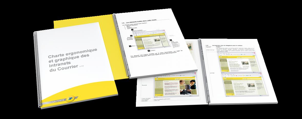 Charte ergonomique & graphique des intranets du Courrier
