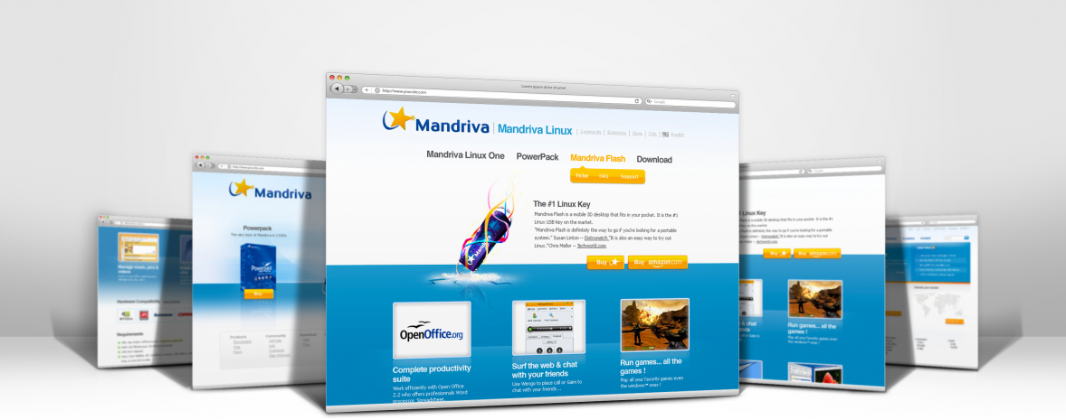 Refonte du site institutionnel Mandriva avec Drupal