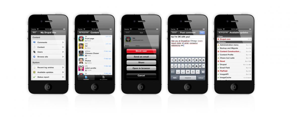 Gérez votre site drupal depuis un iphone ou un ipad grâce à notre application ios