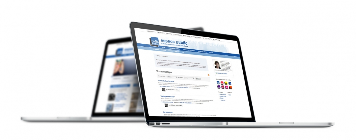 Création du site web Espace Public, communauté des auditeurs de Radio France (Drupal)