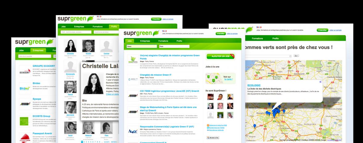 Site emploi, formation RSE, CSR, Green IT et développement durable (Drupal)