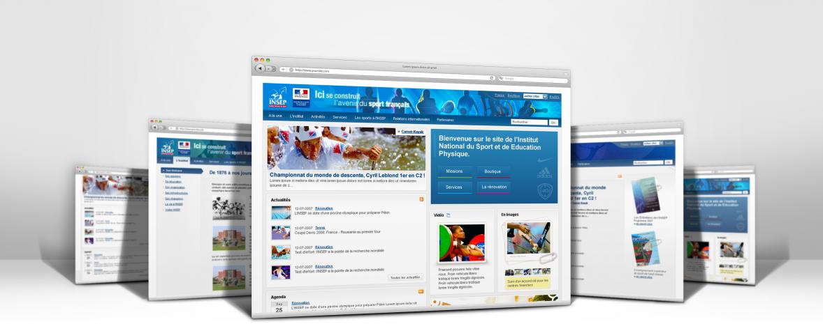 INSEP : Refonte éditoriale, fonctionnelle, ergonomique & graphique du site internet