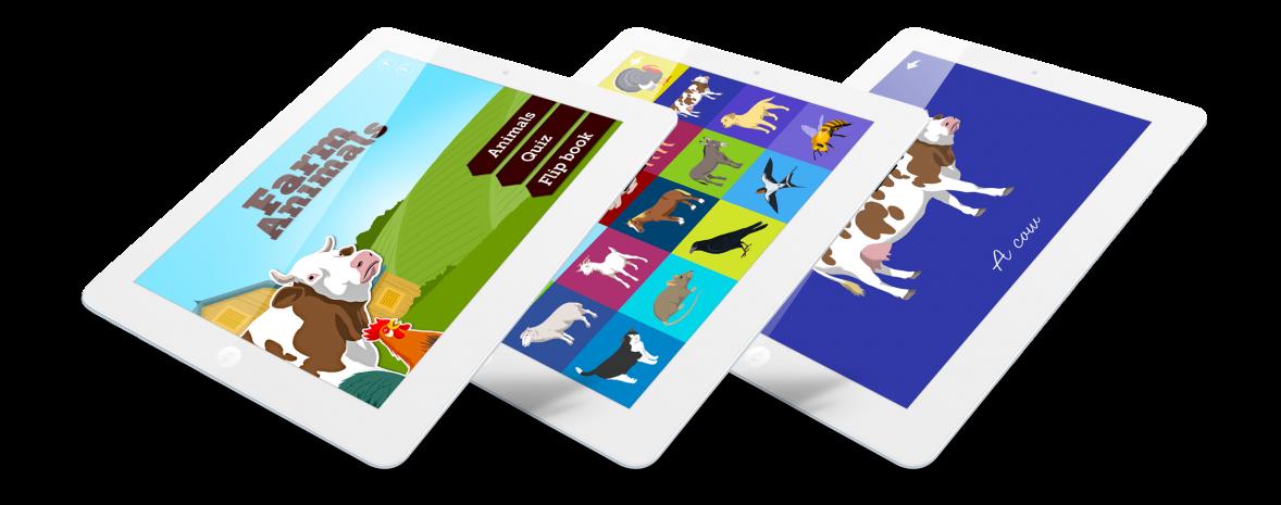 Les animaux de la ferme, jeu pédagogique pour enfants (iPhone, iPad, Mac)