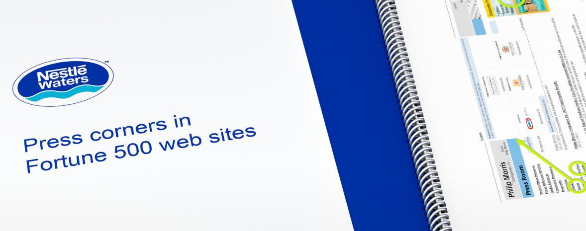 Benchmark international des espaces presse des principaux sites du Fortune 500.
