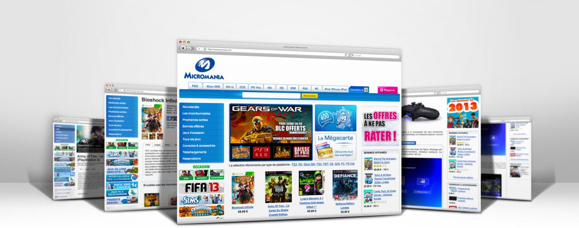 Refonte ergonomique & graphique du site marchand Micromania