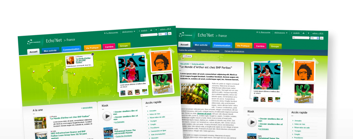 BNP Paribas : audit de l'intranet & recommandations