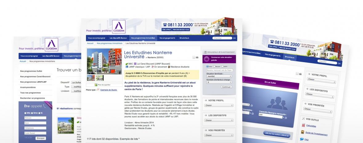 Création du site web immobilier cogedim-investissement.com (Drupal)
