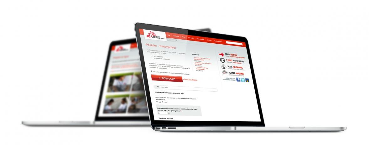 Dispositif de recrutement web de Médecins Sans Frontières (Drupal, Wufoo).