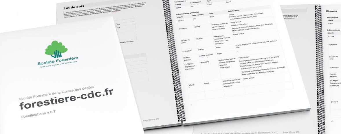 Spécifications de la refonte du site web forestiere-cdc.fr (gros plan)