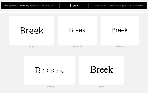 Prévisualiser ses fonts avec wordmark.it